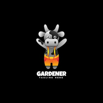 Logo tuinman kleurovergang.