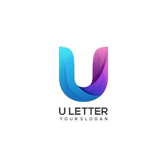 Logo u brief kleurrijk verloop