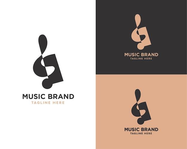 Logo van abstracte muziek