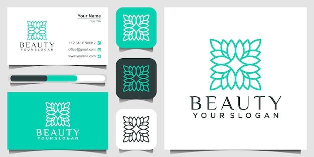 Logo van bloem, schoonheidssalon concept en visitekaartje