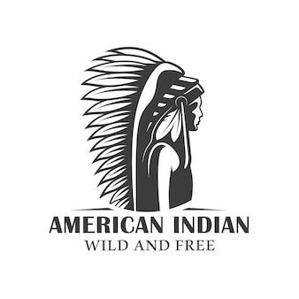 Logo van de amerikaanse indianen