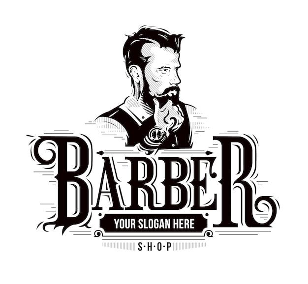 Logo van de barbershop