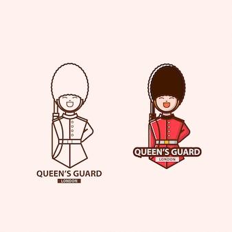 Logo van de garde van de koningin in londen
