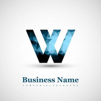 Logo van de letter w