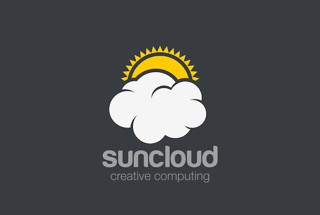 Logo van de wolk van de zon.