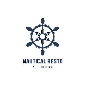 Logo van een nautisch restaurant