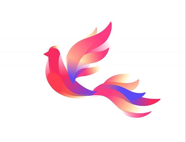 Logo van een vogel. een fantastische vogel.