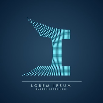 Logo van geruite letter i