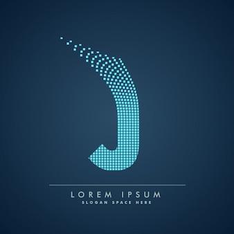 Logo van geruite letter j
