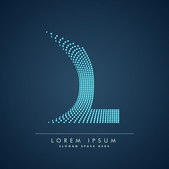Logo van geruite letter l