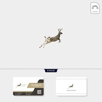 Logo van herten en visitekaartjes