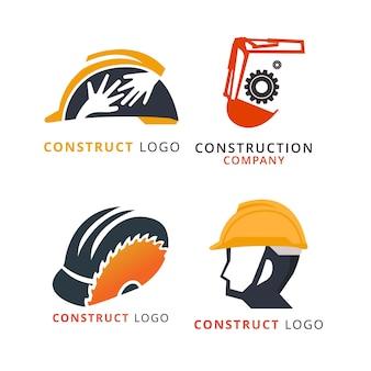Logo van het bouwbedrijf, labels en badges