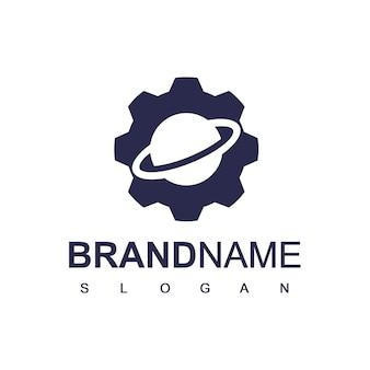 Logo van het planet gear-servicecentrum