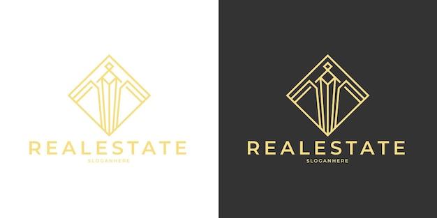 Logo van luxe onroerend goed