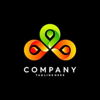 Logo van mensen en sociaal partnerschap