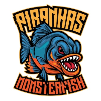 Logo van piranha esport