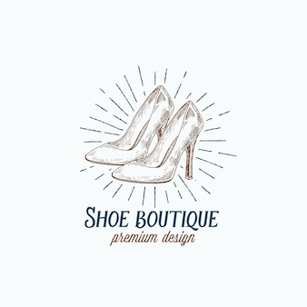 Logo van shoe boutique retro