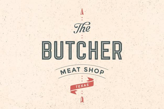 Logo van slagerij vlees winkel