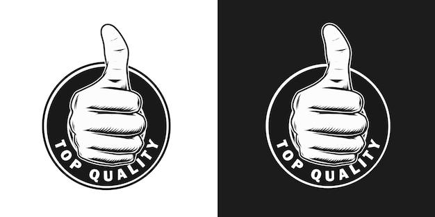 Logo van topkwaliteit