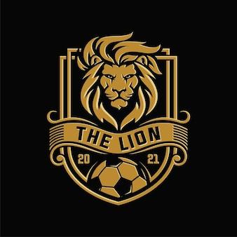 Logo van voetbal leeuw team
