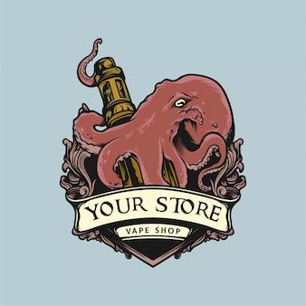 Logo vape octopus knuffel mod vape logo