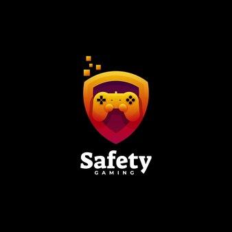 Logo veiligheid kleurovergang kleurrijke stijl.