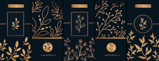 Logo verpakking met design bloem