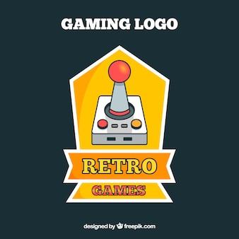 Logo videogamensjabloon met retro-stijl