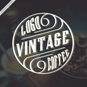 Logo vintage caffee
