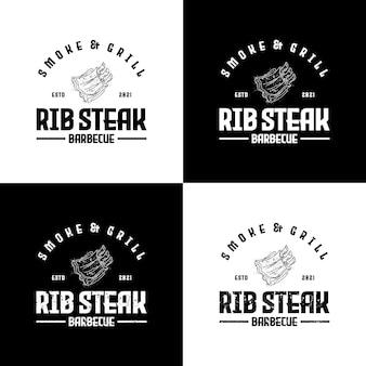 Logo vintage grill barbecue, referentie voor bedrijfslogo
