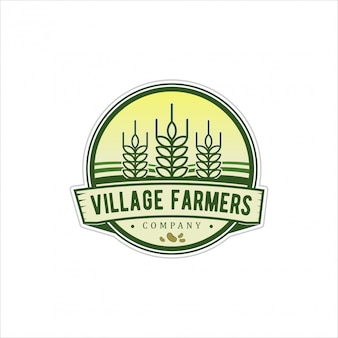 Logo-vintage voor dorpshoofden