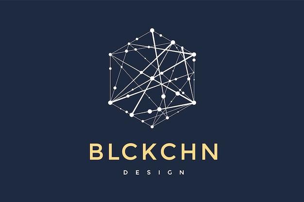 Logo voor blockchain-technologie.
