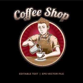 Logo voor coffeeshop of koffieproducts
