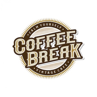 Logo voor coffeeshops of koffieproductlabel