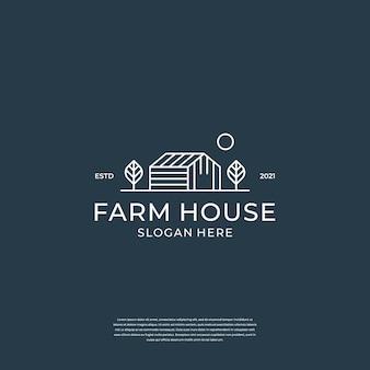 Logo voor de agrarische industrie met huiselementen