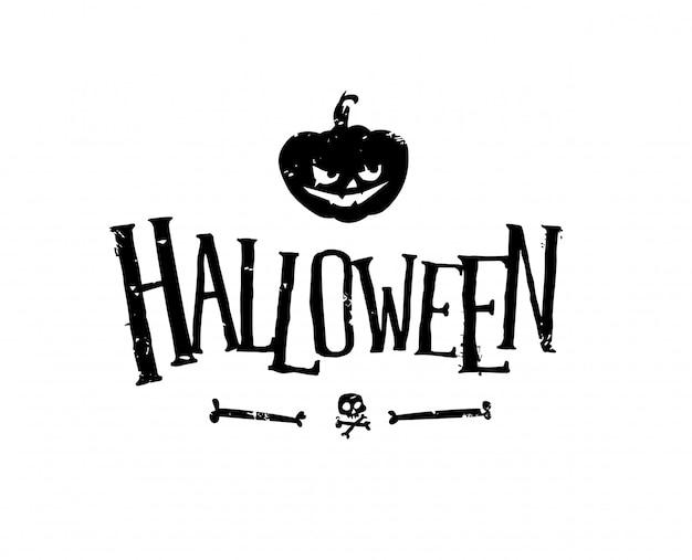 Logo voor de vakantie van halloween.