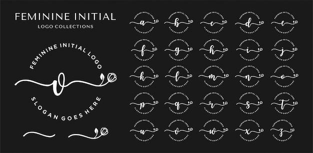 Logo voor eerste letter vrouwelijk bedrijf