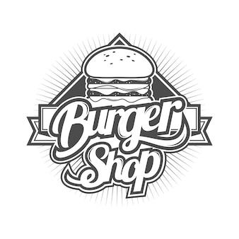 Logo voor hamburger winkel