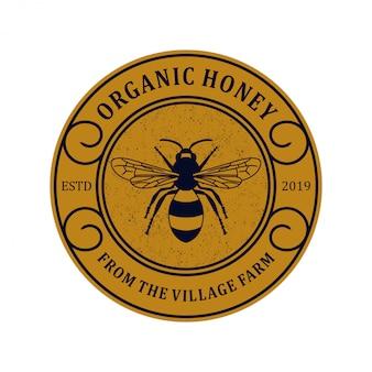 Logo voor honingproducten of honingbijkwekerijen