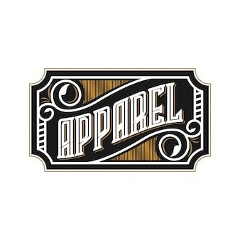 Logo voor mode- en kledingwinkel