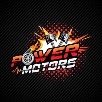 Logo voor motorvermogen