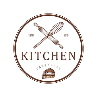 Logo voor restaurants of keukenbakkerijen en catering