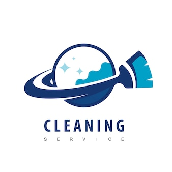 Logo voor schoonmaakservice