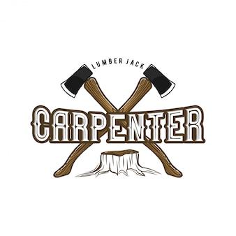 Logo voor timmerlieden en meubelproducten
