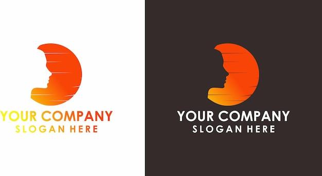 Logo voor vrouwelijk hoofdontwerp