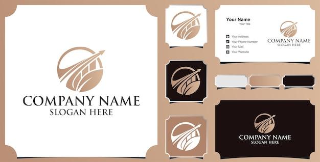Logo voor zakelijke financieringsinvesteringen en visitekaartje