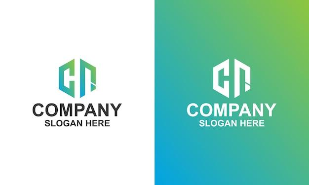 Logo zeshoek letter cn