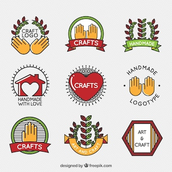 Logos collectie van ambachtelijke