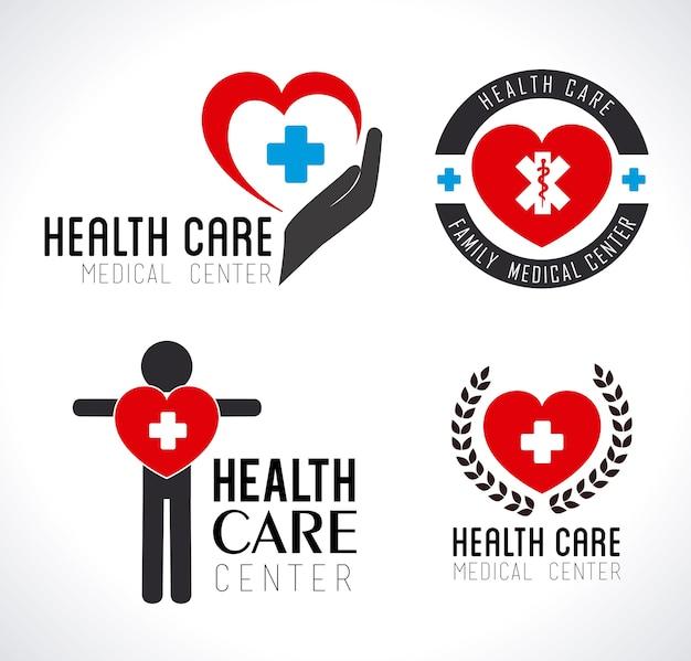 Logos van de gezondheidszorg