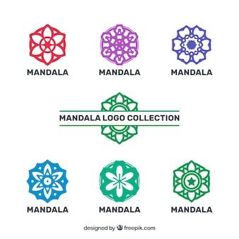 Logos van kleurrijke mandalas